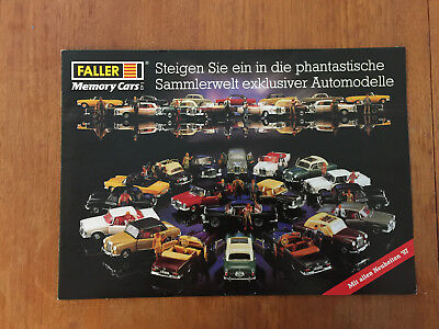 Faller Memory Cars Toy Catalong In 1997