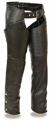 Milwaukee Leather Womens Classic Low Rise Hip Chaps Black