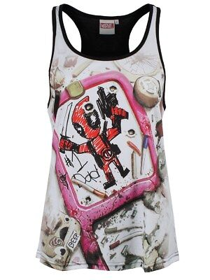 Marvel Deadpool Drawing Women's Vest