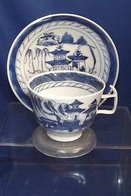 "Antique Chinese-Canton-Porcelain-Blue & White L Cup 31/2""& S 51/2""15% OFF SALE"