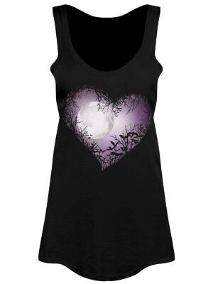 Celestial Moon Floaty Women's Black Vest