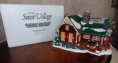 Dept 56 Snow Village-Fisherman's Nook Resort-In Box 5460-7