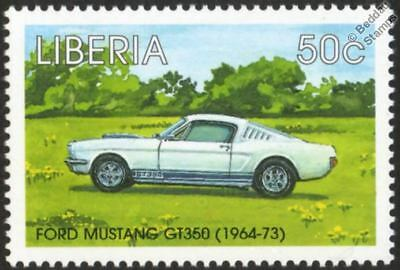 1964-1973 SHELBY FORD MUSTANG GT-350 / GT350 Automobile Car Stamp (1998 Liberia)