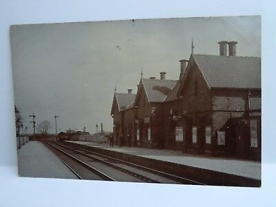 Real Photographic Postcard Showing Snaith Railway Station.