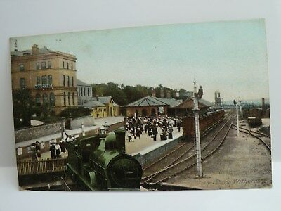 Postcard,showing Withernsea Railway Station, Posted 1906. In Good Condition.