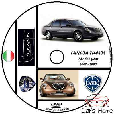 MANUALE OFFICINA LANCIA THESIS my 2002-2009 WORKSHOP MANUAL DVD