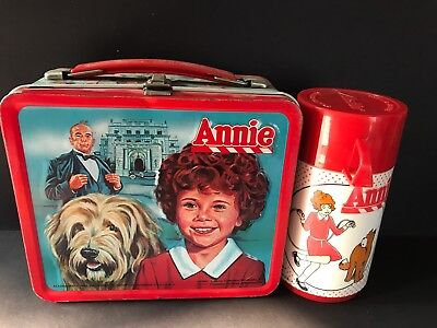 1981 Annie movie Metal Lunchbox, Pail With Thermos