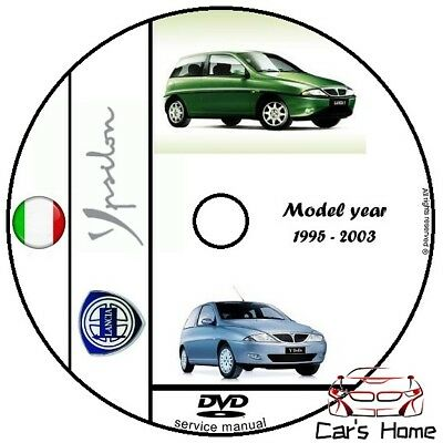 MANUALE OFFICINA LANCIA Y my 1995 - 2003 WORKSHOP MANUAL DVD