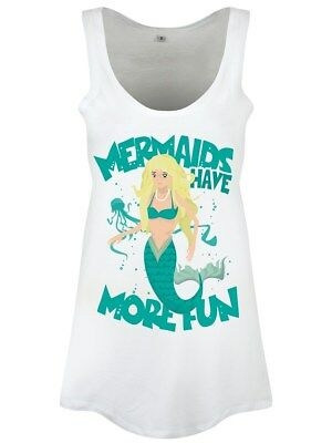 Mermaids Have More Fun Floaty Women's White Vest