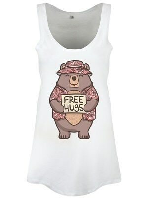 Free Hugs Floaty Women's White Vest