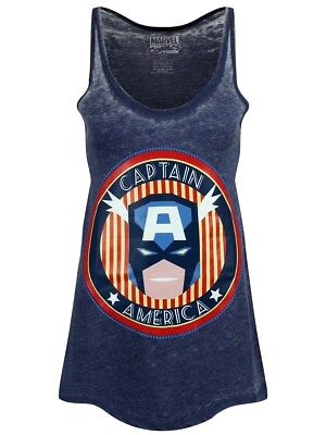 Marvel Captain America Floaty Women's Blue Vest