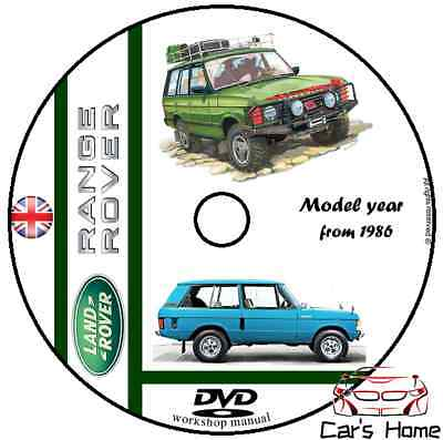 MANUALE OFFICINA LAND ROVER RANGE ROVER my 1986 WORKSHOP MANUAL DVD