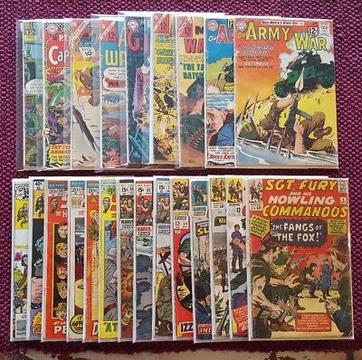 Vintage War comic Lot! Sgt. Fury, Army at War, Army Attack, G.I. Combat, plus ++