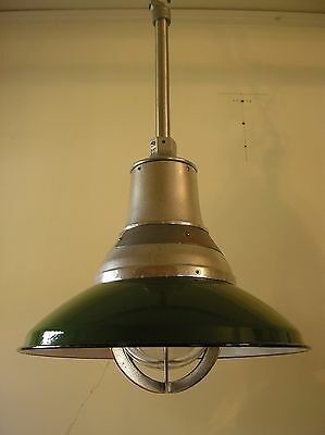 Vintage Crouse Hinds Explosion Proof Industrial Light Fixture Green Porcelain