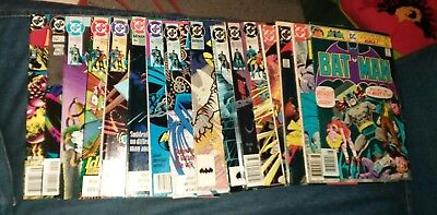 batman 16 issue dc comics lot 428 death in the family detective movie collection