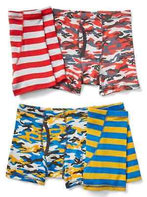 362d53cba12e NEW GAP KIDS Boys 4 Pack Boxer Briefs Underwear 6 7 8 10 12 14 NWT ...