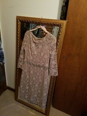 Mother Of Bride Dress Size 8 Champagne/brown