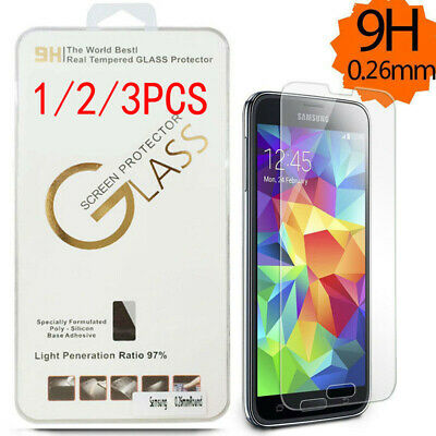 3 Pack Premium Tempered Glass Screen Protector for SAMSUNG Galaxy Note 3 4 5 9H