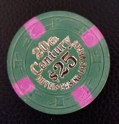 Rare R-10 20Th Century Las Vegas Casino Chip Cr#3630 Z2 Mint Condition