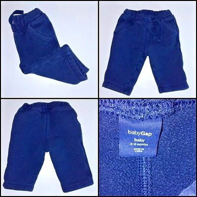 BABY GAP size 3-6 months infant boys blue sweat pants with pockets EUC