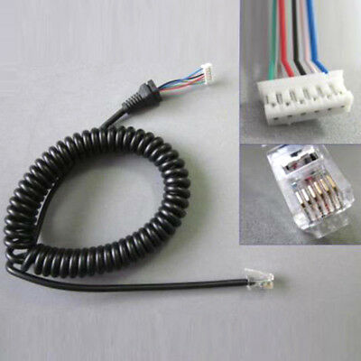 Mic Cable For YAESU MH48A FT-7800/ FT-8800/ FT-8900/ FT-1802/ FT-1807/ FT-1900