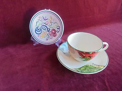 Poole Pottery ( Teacup & Small Dish )