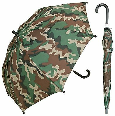 "32"" Children Kid Camo Print Umbrella - RainStoppers Rain/Sun UV"