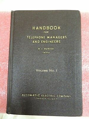 Handbook for Telephone Managers and Engineers 1946