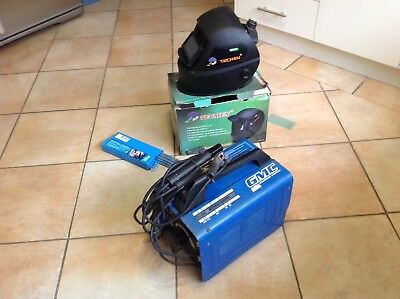 Italian Made Gmc  140 Amp Variable Control Arc Welder,  Welding Mask & Rods