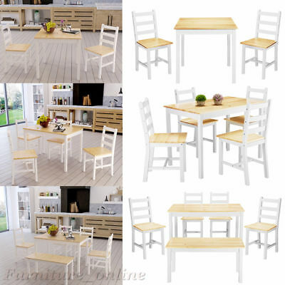 Pine kitchen table chairs picclick uk for 52 kitchen table