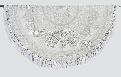 Ombre Boho Wall Hanging Mandala Throw Decor Tapestry Beach Throw Yoga Mat Round