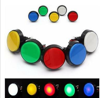 5Colors LED Light Lamp 60mm  Round Arcade Video Game Player Push Button Switch