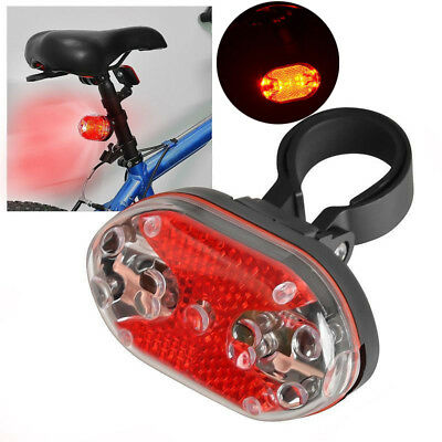 Bright Bike Bicycle Cycle 9 LED Flashing Light Lamp Safety Back Rear Tail 7Modes