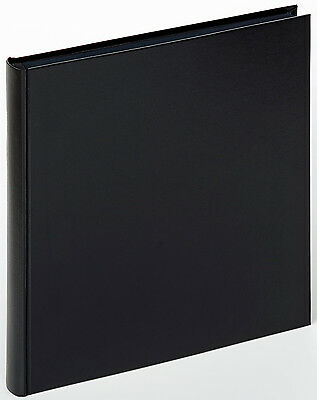 Charm stitchbound drymount photo album, smooth cover, black pages