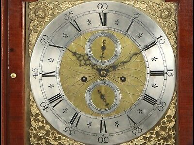 Wonderful Manchester 8 Day Longcase Clock With Superb Brass Dial