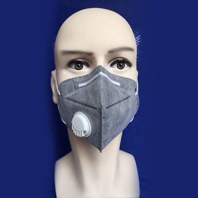 5 Activated Carbon Charcoal Particulate Respirator Valved Safety Dust Mask