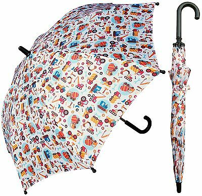 "32"" Children Kid Trucks Print Umbrella - RainStoppers Rain/Sun UV"