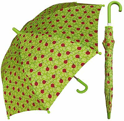 "32"" Children Kid Ladybug Green Umbrella - RainStoppers Rain/Sun UV"