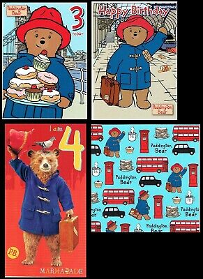 PADDINGTON BEAR ~ OFFICIAL Birthday CARD L@@K Great Graphics inside + Out