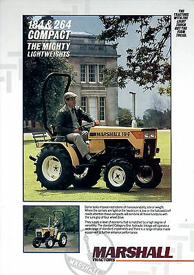 Marshall 184 & 264 Compact Tractor Brochure. Mint Condition. Rare Vintage Piece.