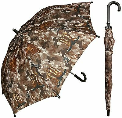 "32"" Children Kid Cowboy Western Umbrella - RainStoppers Rain/Sun UV"