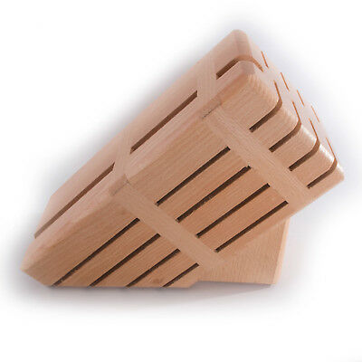 Knife Wooden Block / Holds 10 Knives /Kitchen Tools Storage Oraniser Rack Stand
