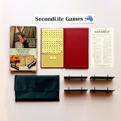 (Vintage) SCRABBLE Travel ~ Murfett (1979). No Magnets Carry Case. SecondLife.