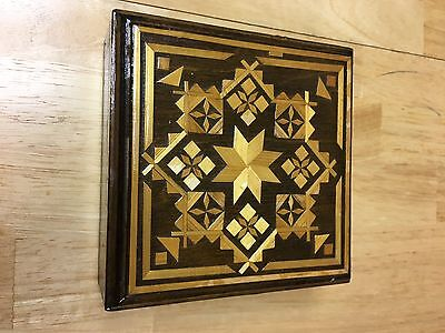 Vintage Russian Lacquered Box with inlay