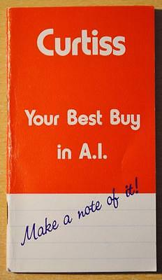 Curtiss Breeding Service Advertising Note Pad Artificial Insemination Cary Il