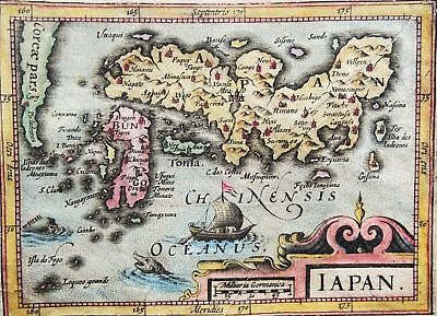 Japan and Corea, map by Bertius / Hondius (1616), Iapon