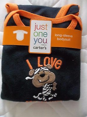 NEW JUST ONE YOU HALLOWEEN MUMMY BODYSUIT Infant/Baby Boys -6 MONTHS