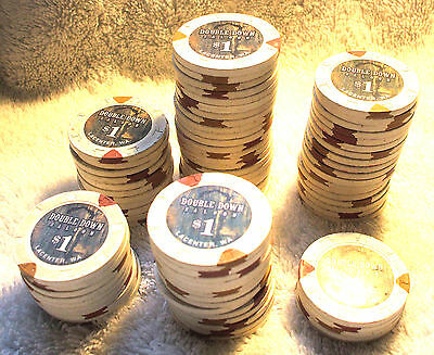 20 - $1. Double Down Saloon Casino Chips - LaCenter, Washington - Paulson Chips