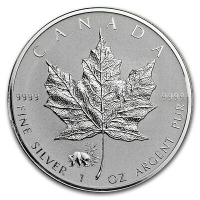 CANADA 5 Dollars Argent 1 Once Maple Leaf 2017 Marque Panda
