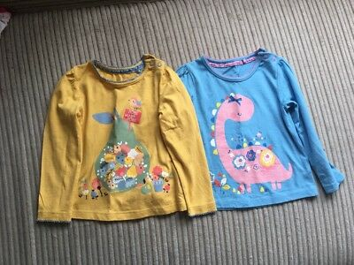 Two Baby Girl Long Sleeve Top Size 9-12 Months
